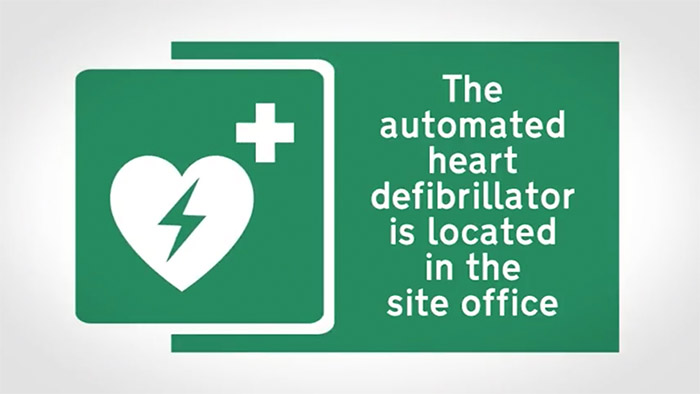 Health and Safety Defib Sign
