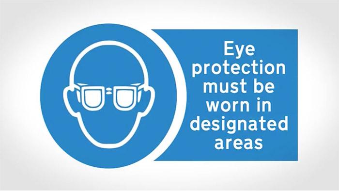 Eye protection sign