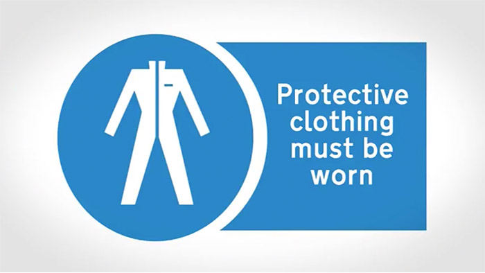 Safety Stretcher Protective Clothing Sign