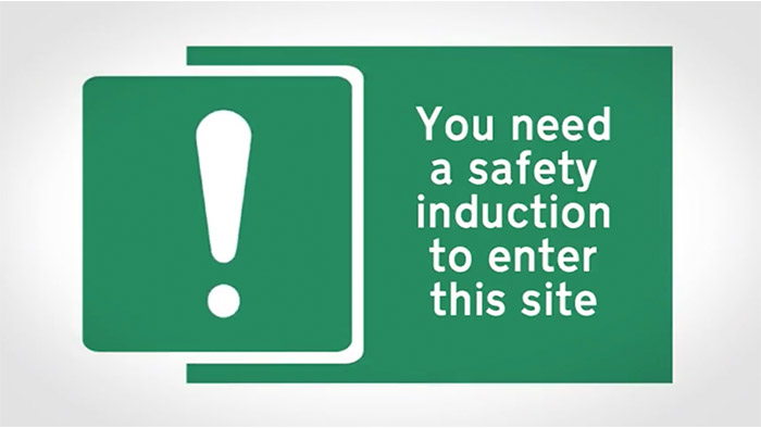 Health and Safety Induction Sign