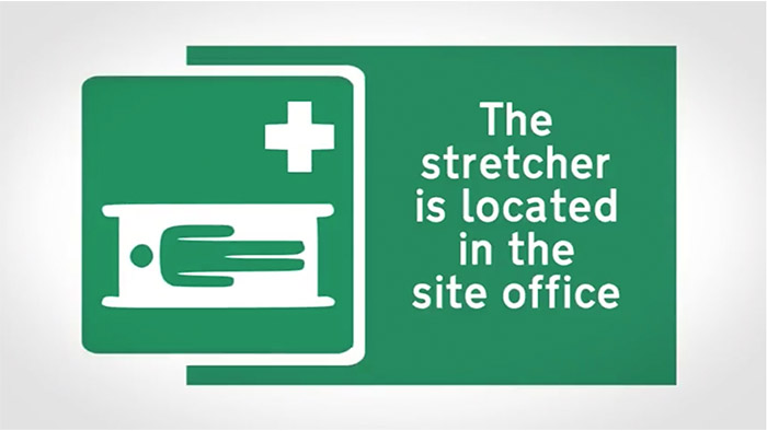 Health and Safety Stretcher Sign