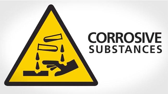 Corrosive substances Safety Sign