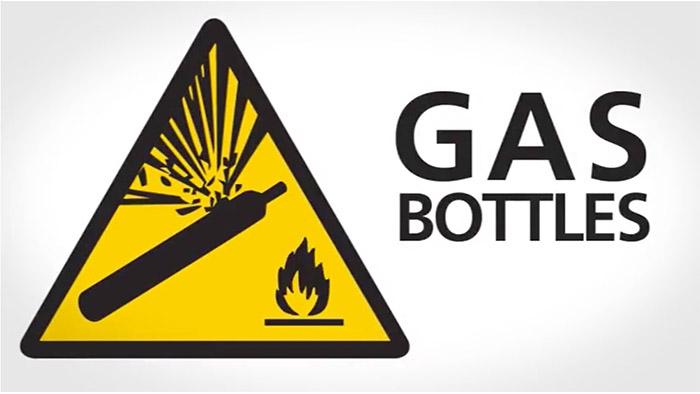 Gas Bottles Safety Sign