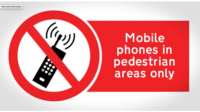 Mobile Safety Sign