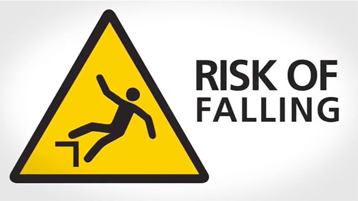 Rick of falling Safety Sign